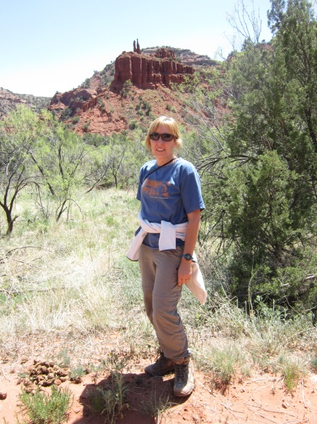 Wendy in Caprock Canyon
