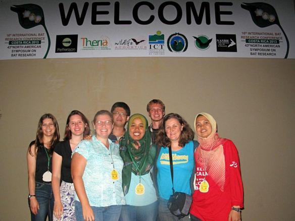 From left to right - Colleen, Marina, Kendra, Joe, Julie, Nick, Tigga, Ain