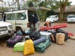 Loading up at the Nairobi National Museum. The Mighty Nissan knows no fear.